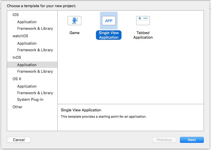 Screenshot of Xcode settings