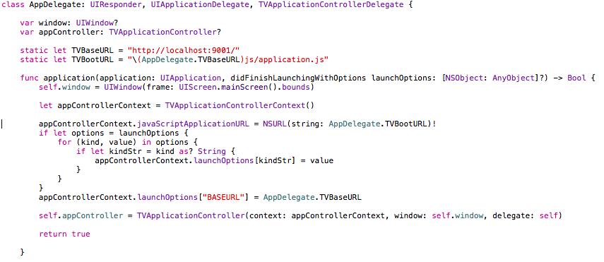 screenshot of the code