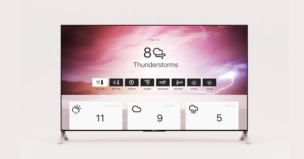 Banner with apple tv and weather app