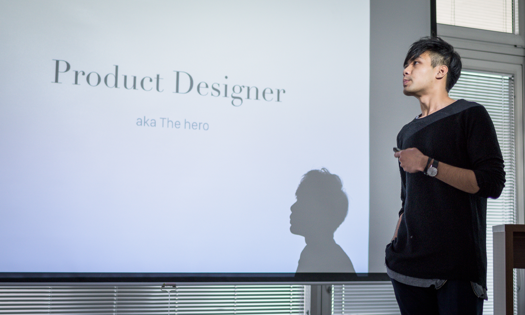 Jan Vu Nam presenting on product design