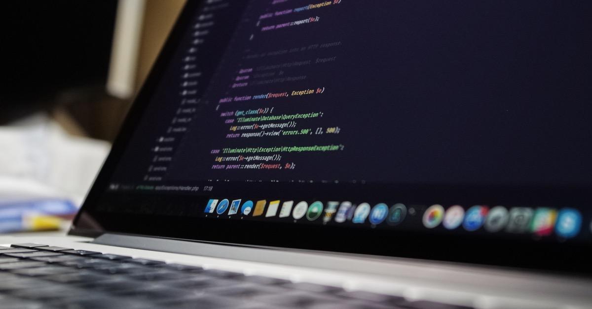 lines of code as seen on macbook