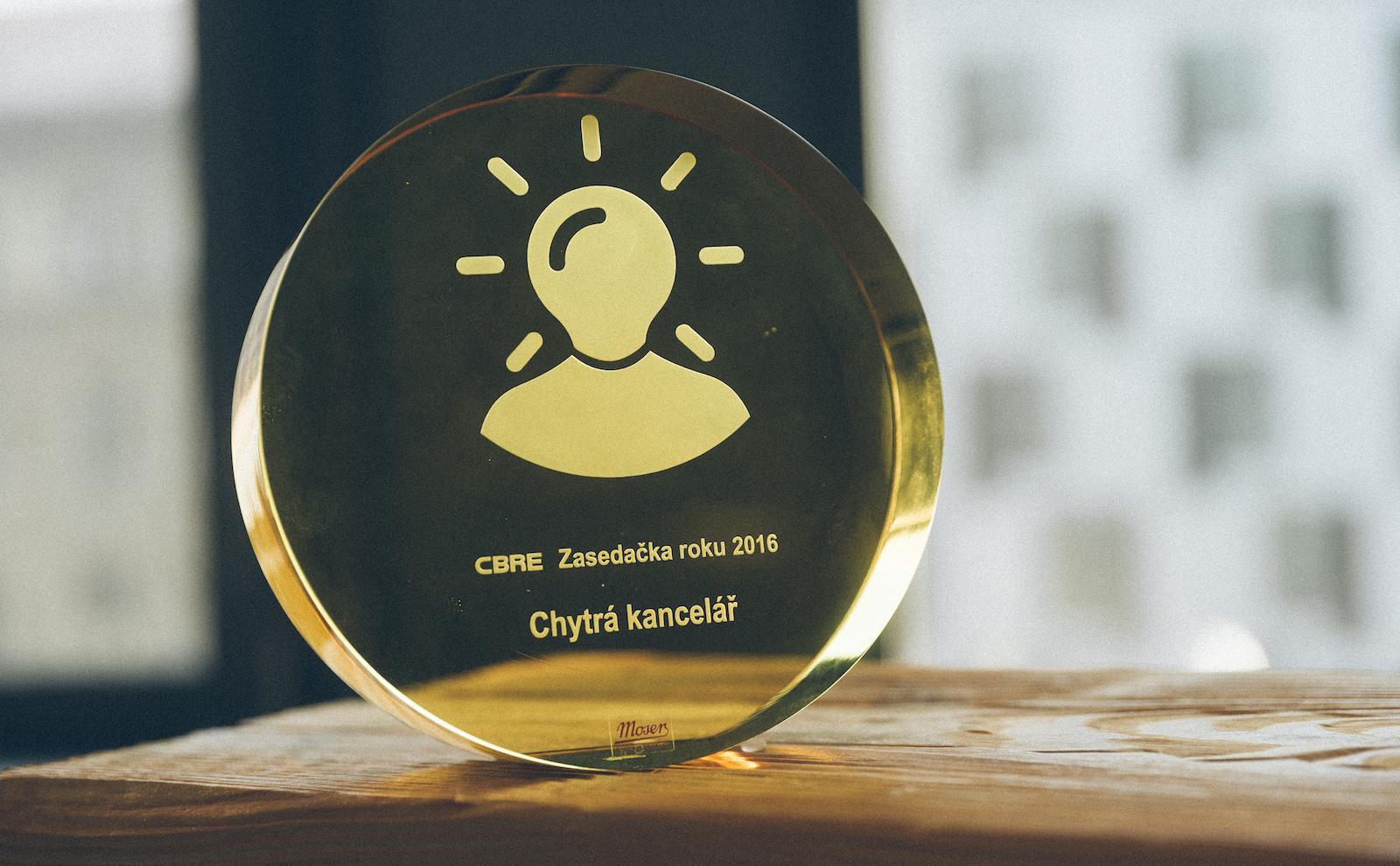 CBRE zasedačka roku - chytrá kancelář - cena
