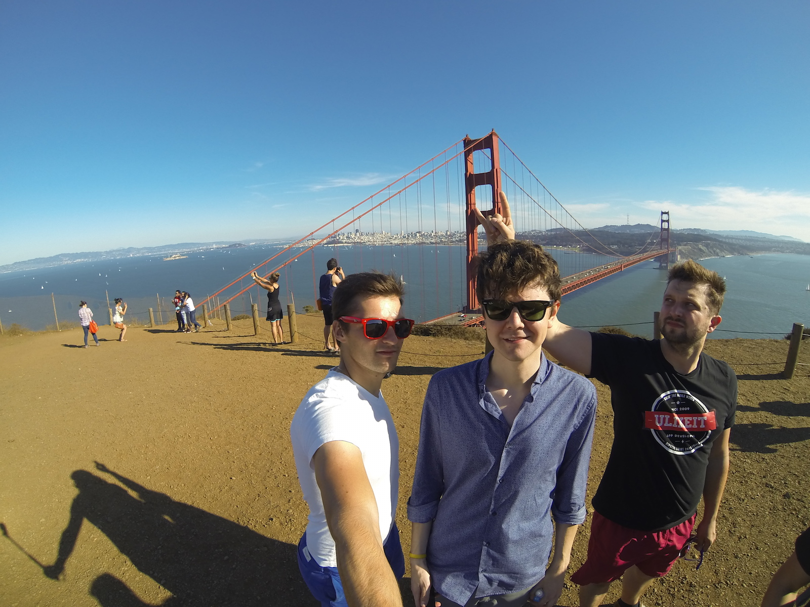 Lubo Smid, Daniel Kraus, Vojta Stavik at Golden Gate