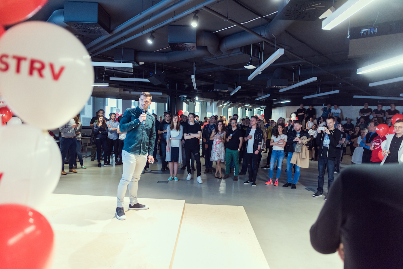 Lubo's speech in the event space