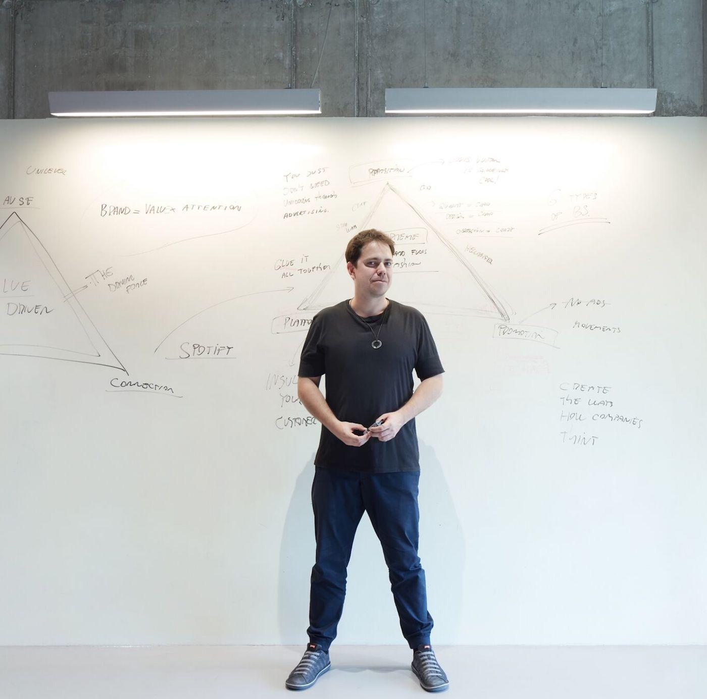 Milan Semelak at the whiteboard